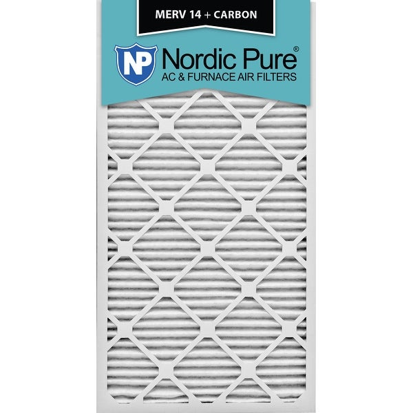 shop nordic pure 14x30x1 merv 14 plus carbon ac furnace air filters ...