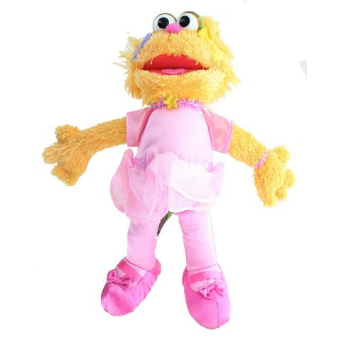 Sesame Street Ballerina Zoe 12 Inch Plush - Orange