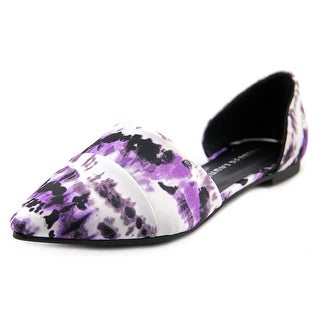 Chinese Laundry Easy Does It Women Pointed Toe Canvas Purple Flats
