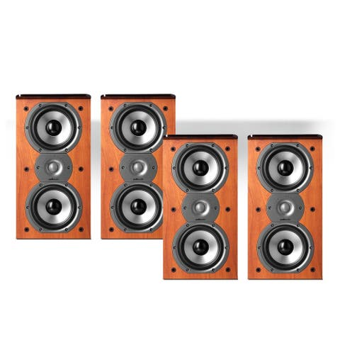 Polk Audio TSi200 2-Way Bookshelf Speaker Package - set of two pairs (Cherry) - Cherry