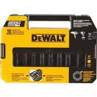 """Black & Decker/DWLT 10Pc 1/2"""" Dr Impact Set DW22812 Unit: EACH"""