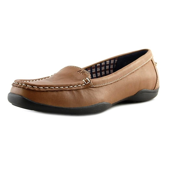 Anne Klein Gabby Women Moc Toe Leather Loafer