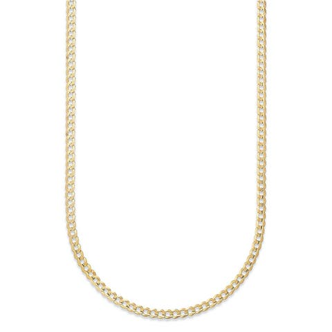 Pori Jewelers 14K Yellow Gold 2.3mm Cuban Link Chain necklace