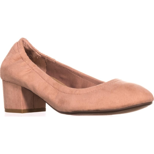 AR35 Devona Kitten Heel Pumps, Blush - 7 us