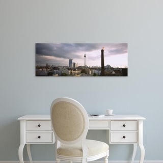 Easy Art Prints Panoramic Images's 'Tower in a city, Berlin, Germany' Premium Canvas Art