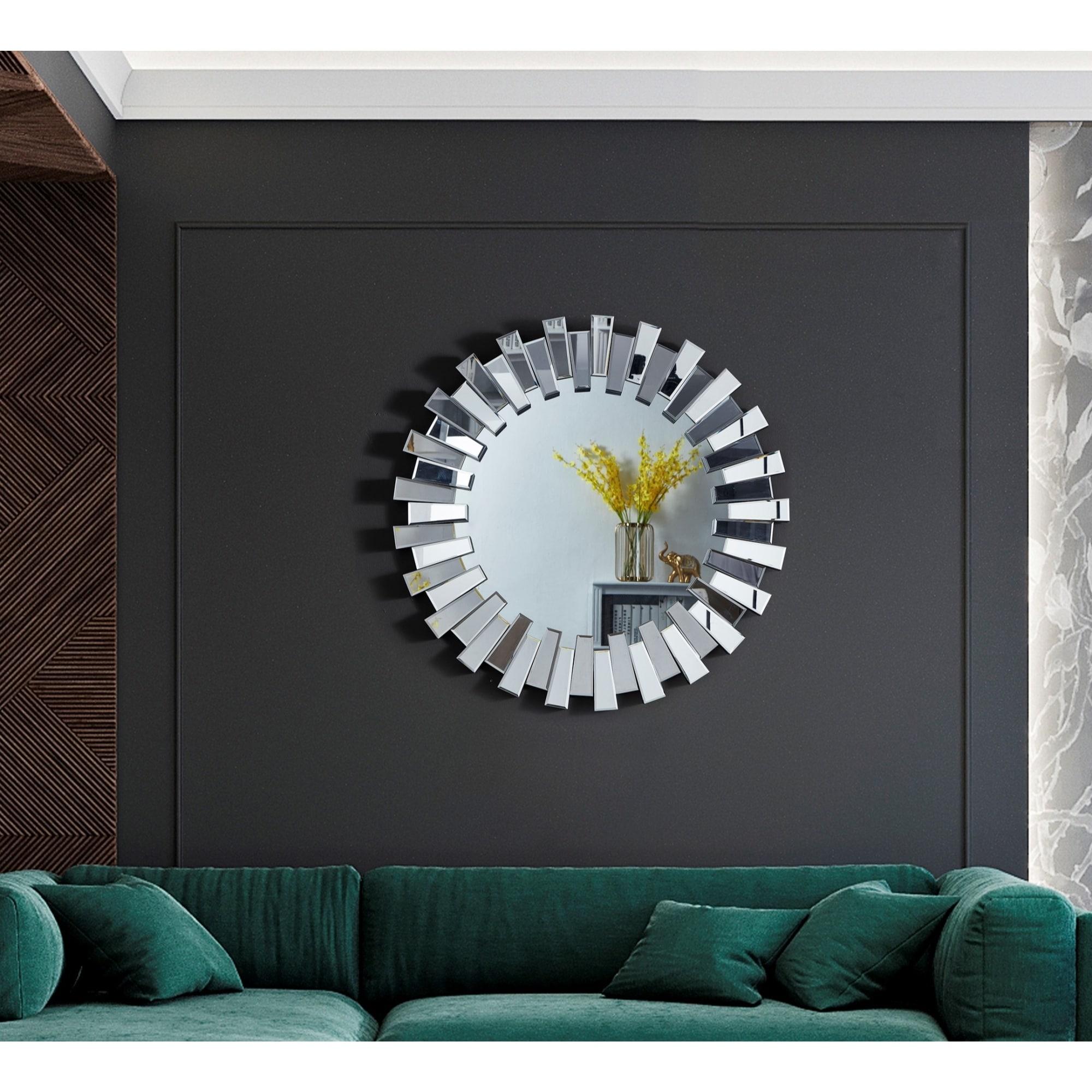 Brooklynn Sunburst Round Accent Wall Mirror Overstock 32016879