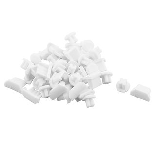 Phone Rubber Micro USB Port 3.5mm Earphone Jack Anti Dust Stopper White 20 Set