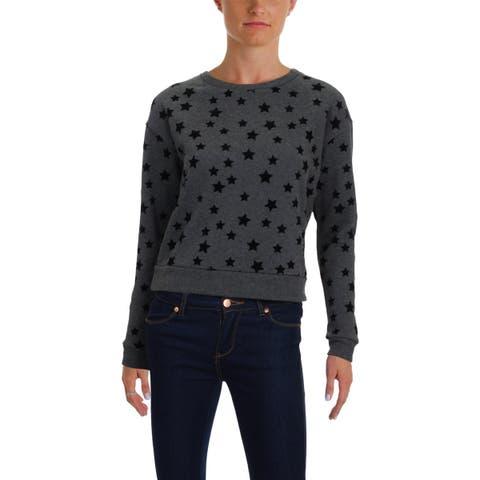 Aqua Womens Sweatshirt Velvet Star