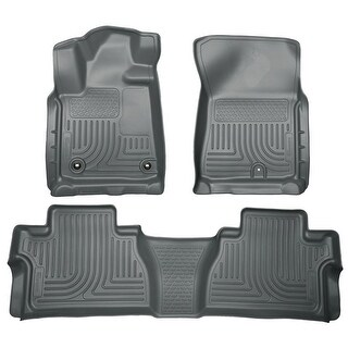 Husky Weatherbeater 2014-2016 Toyota Tundra DoubleCab Grey Front & Rear Floor Mats/Liners