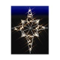 "39"" Bethlehem Star Nativity Silhouette Lighted Wire Frame Christmas Outdoor Decoration"