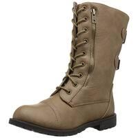 Brinley Co Women's Kiley Combat Boot