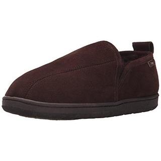 Dije California Mens Romeo Leather Sheepskin Slip-On Slippers - 8 medium (d)