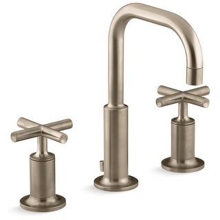 Kohler K-14406-3 Purist Widespread Bathroom Faucet with Ultra-Glide Valve Technology - Free Metal Pop-Up Drain Assembly with