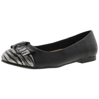 Annie Womens Eastly Ballet Flats Faux Leather Round Toe
