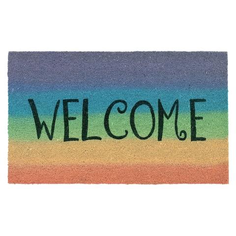 "Liora Manne Natura Welcome Outdoor Mat Rainbow 18""X30"""