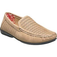 Stacy Adams Men's Cicero Perfed Moc Toe Loafer 25172 Taupe Synthetic