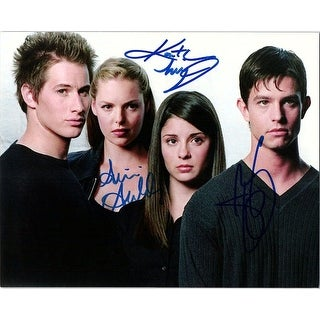 Signed Roswell Jason Behr Katherine Heigl Shiri Appleby 8x10 Photo Jason Behr Katherine Heigl and
