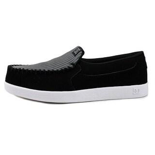 DC Shoes Villain Men  Moc Toe Leather Black Loafer
