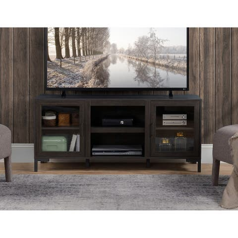 Dark Oak Finish TV Stand