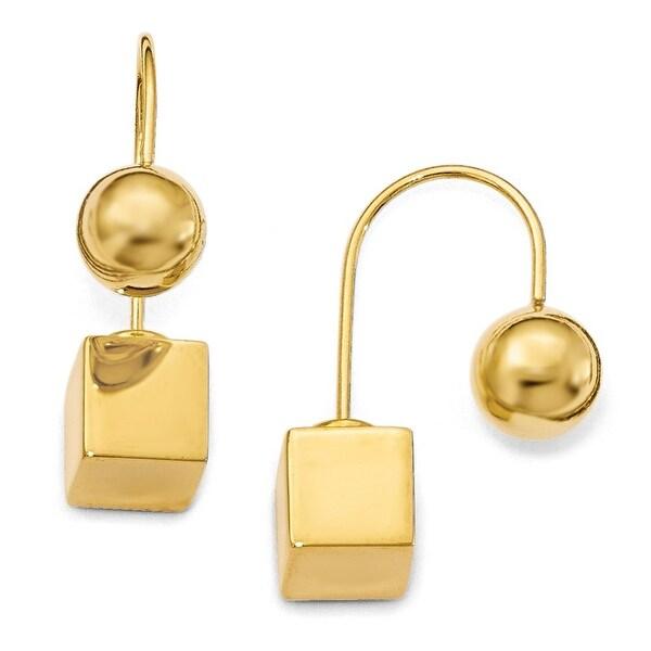 Italian Sterling Silver Gold-tone Dangle Earrings