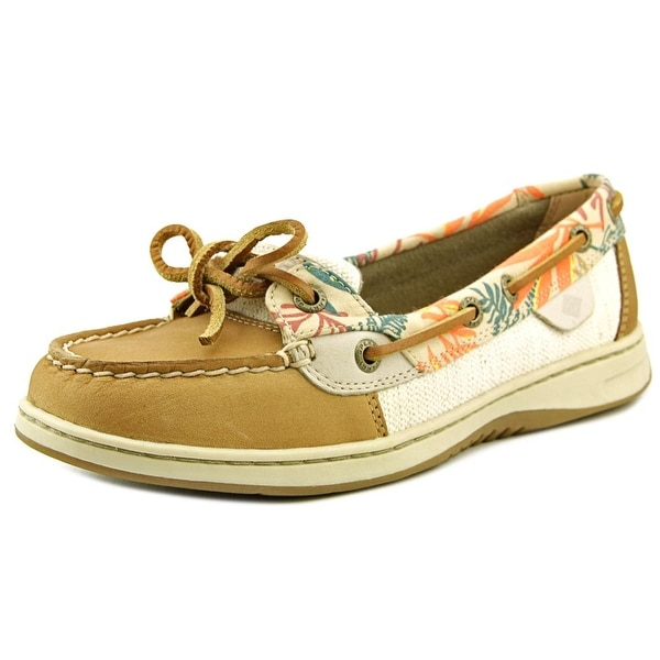 Sperry Top Sider Angelfish Women Moc Toe Leather Tan Boat Shoe