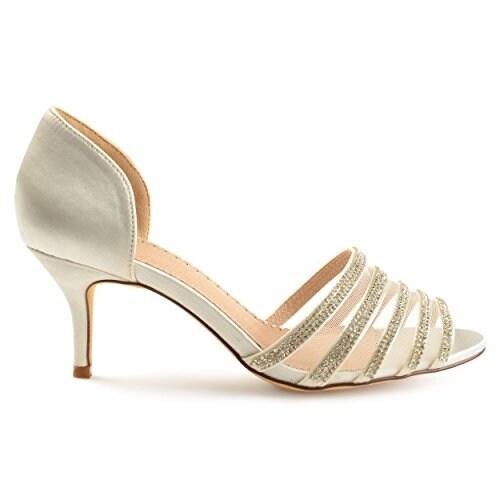 0bb7318f163c Shop Brinley Co Womens Salem Satin D Orsay Peep-Toe Rhinestone High Heels -  8.5 - Free Shipping On Orders Over  45 - Overstock - 20998737