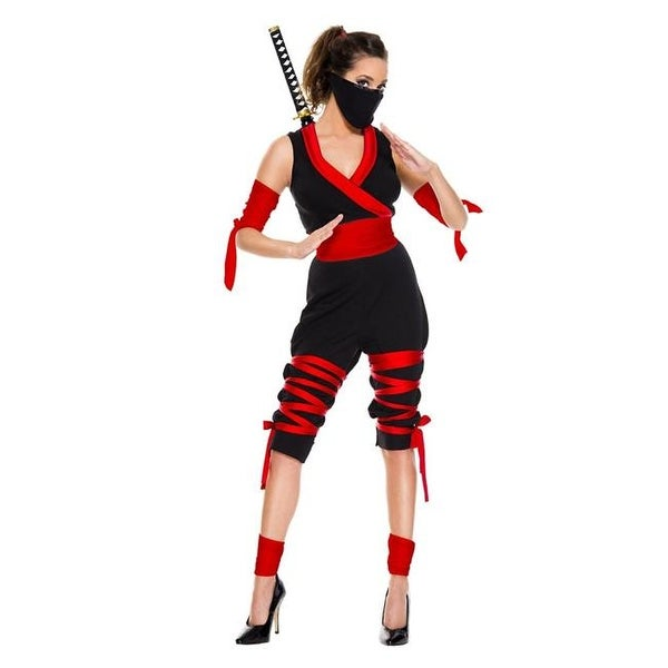 3dc5933c10b Shop Music Legs 70809-ML 7 Piece Fierce Ninja Costume - Medium   Large - Free  Shipping On Orders Over  45 - Overstock.com - 22955004