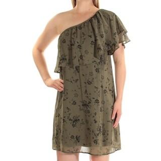 KENSIE $79 Womens New 1534 Green Floral Short Sleeve Shift Dress S B+B