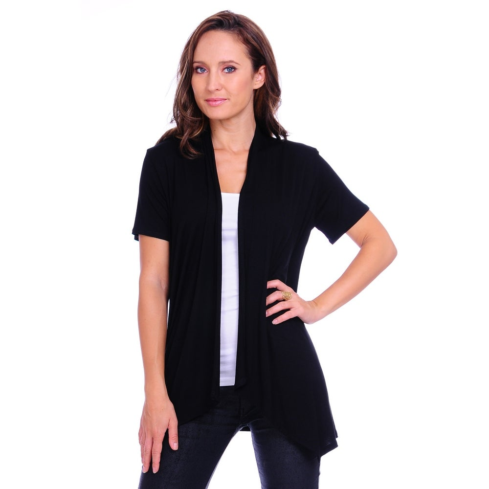 Simply Ravishing Womens Basic Short Sleeve Open Cardigan (Size: Small-5X)