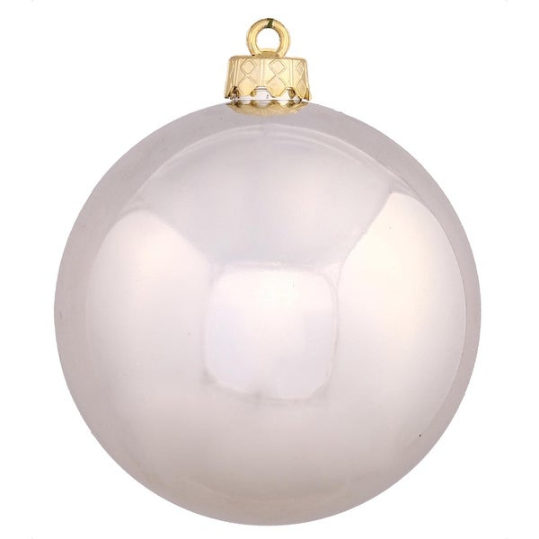 """Shiny Champagne UV Resistant Commercial Drilled Shatterproof Christmas Ball Ornament 8"""" (200mm)"""
