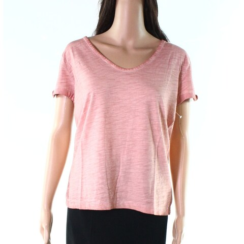 Sanctuary Womens Twist Sleeve Soft V-Neck Top T-Shirt