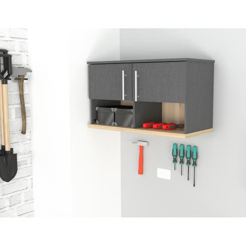 Inval KRATOS Wall Mounted Garage Cabinet with Open Space