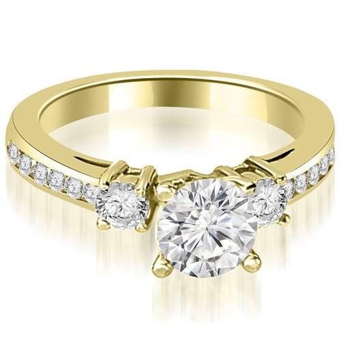 1.60 cttw. 14K Yellow Gold Round Cut Diamond Engagement Ring