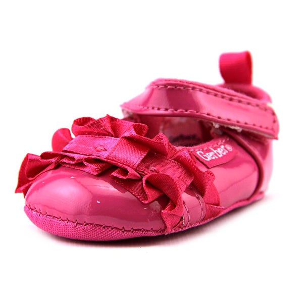 Gerber Ruffle Bow Infant Round Toe Canvas Pink Mary Janes