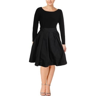 Lauren Ralph Lauren Womens Special Occasion Dress Jersey Tea Length