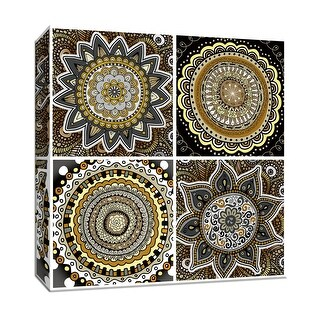 """PTM Images 9-146832  PTM Canvas Collection 12"""" x 12"""" - """"Zentangle Yellow Patch"""" Giclee Flowers Art Print on Canvas"""