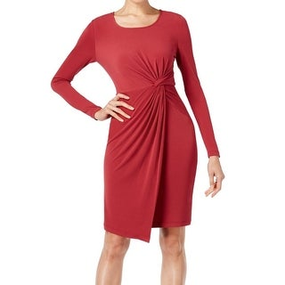 Catherine Malandrino NEW Red Womens Size Small S Knot-Side Sheath