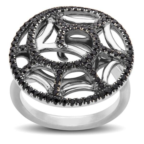 Evert DeGraeve 5/8 ct Black Spinel Swirl Ring in Sterling Silver