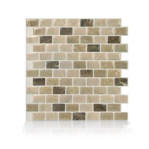 Ravenna Terra Peel and Stick Mosaic Backsplash (4-Pack)