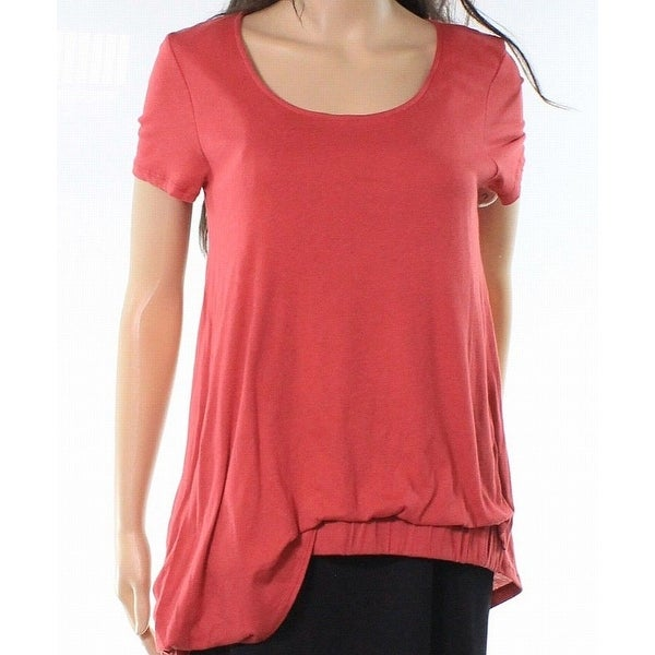 363dd053263 Shop Caslon Strawberry Womens Smoked Hem Knit Tee T-Shirt - On Sale - Free  Shipping On Orders Over  45 - Overstock - 26986052