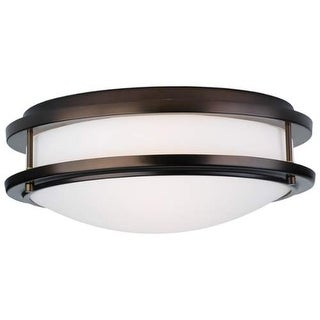 "Forecast Lighting F245670U 2 Light 13.75"" Wide Flush Mount Ceiling Fixture from the Cambridge Collection"
