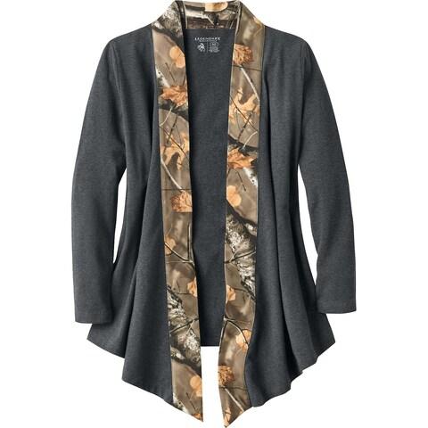 Legendary Whitetails Ladies Crossroads T-Shirt Cardigan - Charcoal Heather