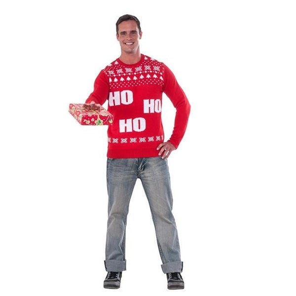 Shop Rubies 275291 Adult Ho Ho Ho Christmas Sweater - Small - Free Shipping On Orders Over $45 - Overstock.com - 22936002