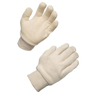AMMEX WJ White Jersey Work Gloves (Bag of 12 pairs)