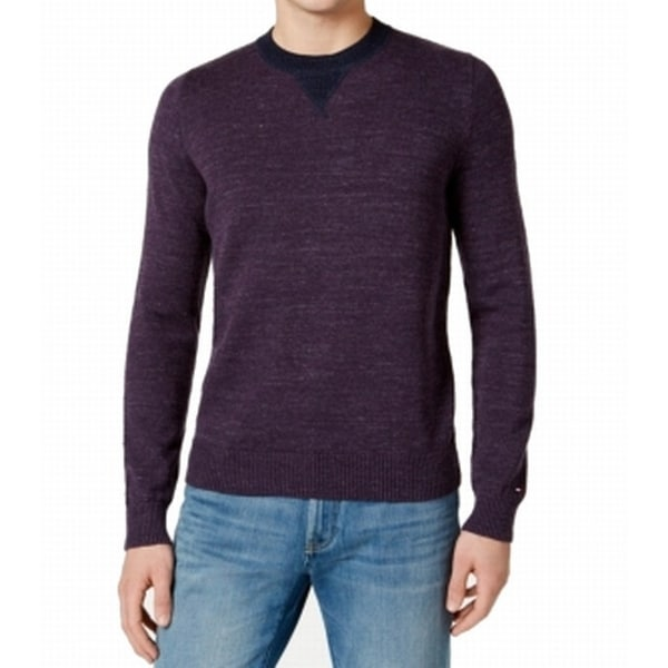 32db90a4a Shop Tommy Hilfiger NEW Purple Space-Dyed Mens Size Large L Crewneck  Sweater - Free Shipping On Orders Over $45 - Overstock - 19575417