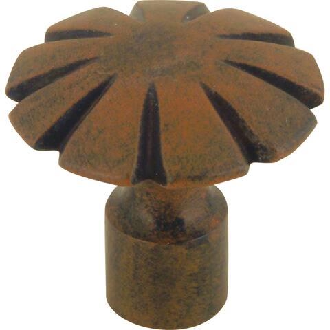 "Atlas Homewares 30070 Fluted 1-1/2"" Diameter Mushroom Cabinet Knob - Rust"