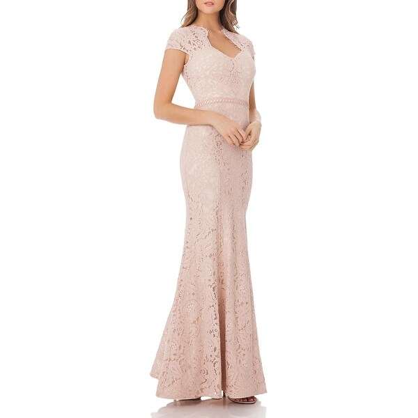 JS Collections Womens Evening Dress Scalloped Lace. Opens flyout.