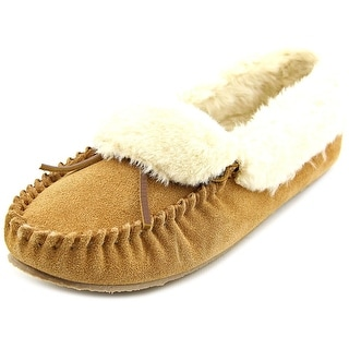 Minnetonka Felice Women Round Toe Suede Brown Slipper