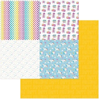 "Cake Rainbow Sprinkles Double-Sided Cardstock 12""X12""-Celebrate Quad"