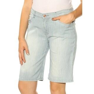 Womens Navy Striped Bermuda Short Petites Size 10